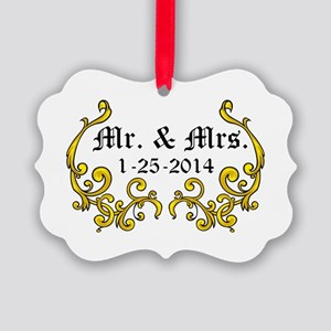 Mr. Mrs. Personalized dates Ornament