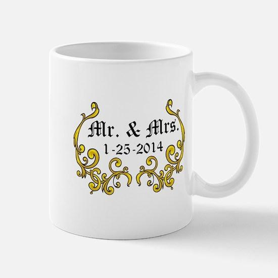 Mr. Mrs. Personalized dates Mugs