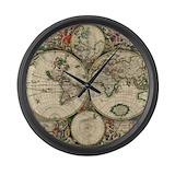 1689 world map Giant Clocks