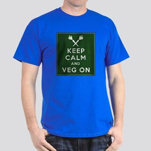 Keep Calm and Veg On Dark T-Shirt