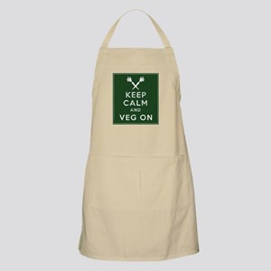 Keep Calm and Veg On Apron