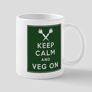 Keep Calm and Veg On Mug