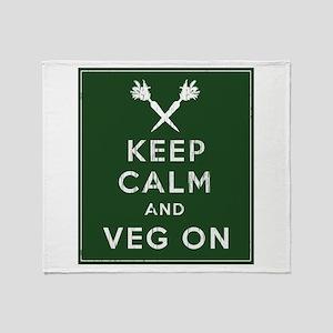Keep Calm and Veg On Throw Blanket