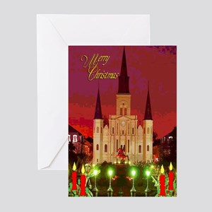 New Orleans Cathedral at Night Cards (6) Greeting