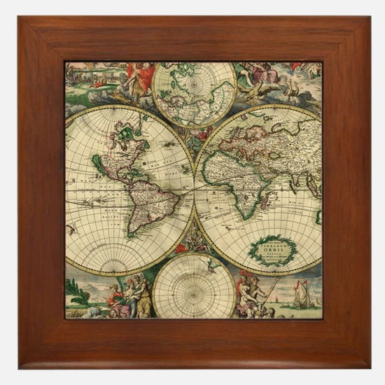 Cute World Framed Tile