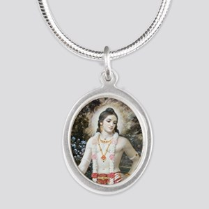 Lord Balarama's Mercy Silver Oval Necklace