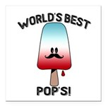 best pops Square Car Magnet 3