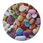 Pile Of Pills Round Car Magnet