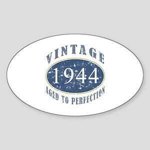 1944 Vintage (Blue) Sticker (Oval)