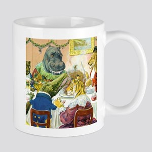 Christmas Banquet in Animal Land Mug