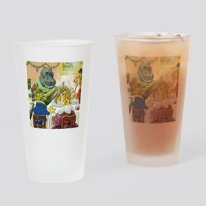 Christmas Banquet in Animal Land Drinking Glass