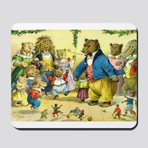 Christmas Dance in Animal Land Mousepad