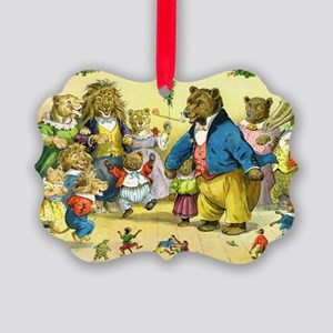 Christmas Dance in Animal Land Picture Ornament