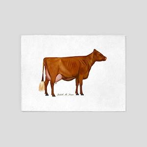 Milking Shorthorn 5'x7'Area Rug