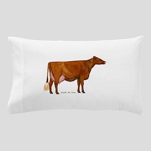 Milking Shorthorn Pillow Case