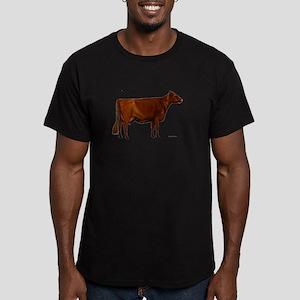 Milking Shorthorn Men's Fitted T-Shirt (dark)