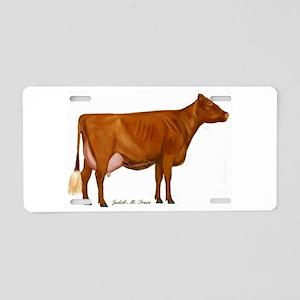 Milking Shorthorn Aluminum License Plate