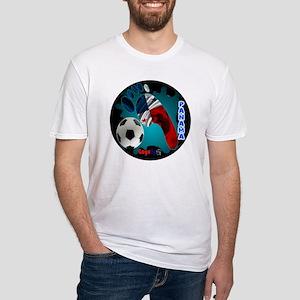 PANAMA SOCCER CUSTOMIZABLE BRASIL 2 Fitted T-Shirt