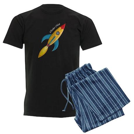 Rocket Man Rocket Ship Men's Dark Pajamas