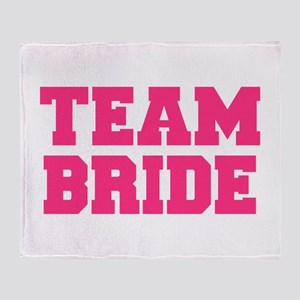 Team Bride Throw Blanket