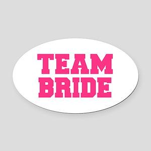 Team Bride Oval Car Magnet