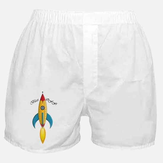 Blast Off! Rocket Ship Boxer Shorts