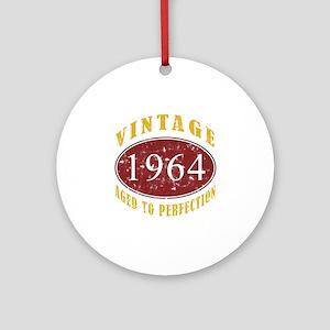1964 Vintage (Red) Ornament (Round)
