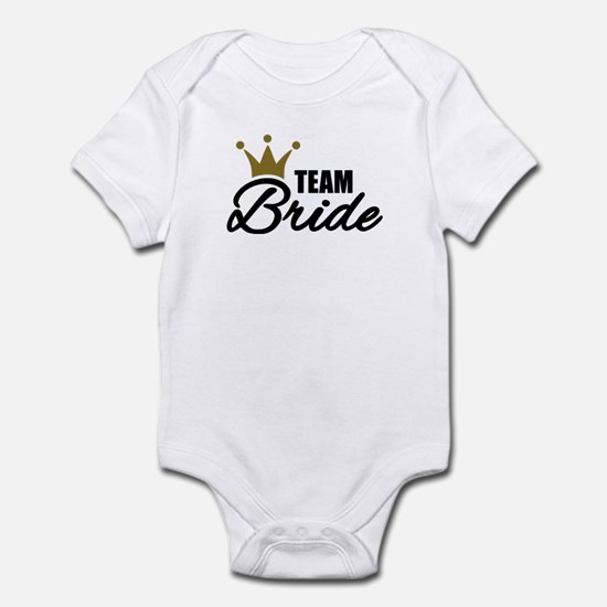 Team Bride crown Infant Bodysuit