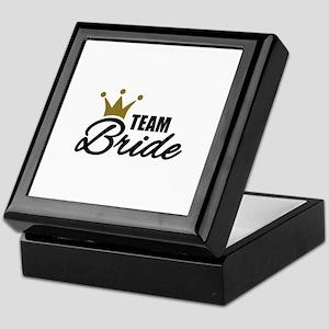 Team Bride crown Keepsake Box