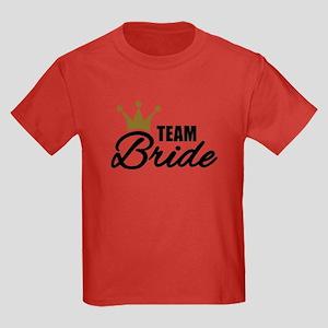 Team Bride crown Kids Dark T-Shirt