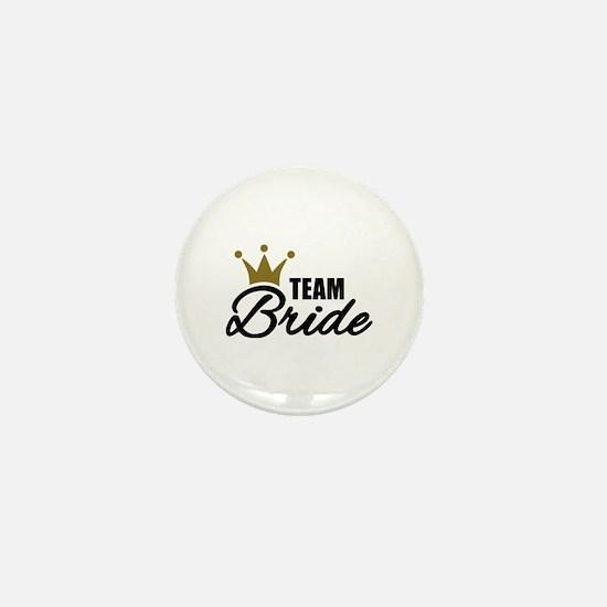 Team Bride crown Mini Button
