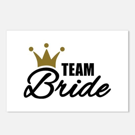 Team Bride crown Postcards (Package of 8)