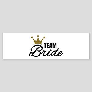 Team Bride crown Sticker (Bumper)