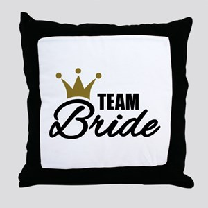 Team Bride crown Throw Pillow