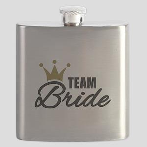 Team Bride crown Flask