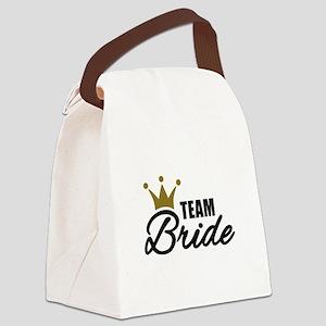 Team Bride crown Canvas Lunch Bag