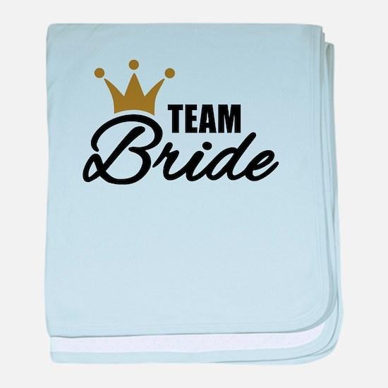 Team Bride crown baby blanket