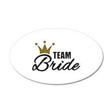 Team Bride crown Wall Decal