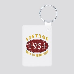 1954 Vintage (Red) Aluminum Photo Keychain