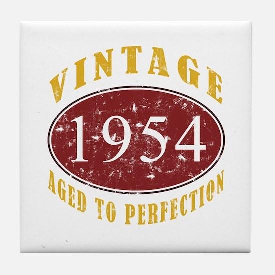 1954 Vintage (Red) Tile Coaster