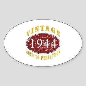 1944 Vintage (Red) Sticker (Oval)