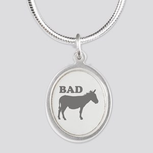 Badass Silver Oval Necklace