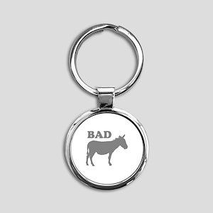 Badass Round Keychain