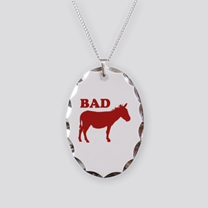 Badass Necklace Oval Charm