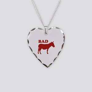 Badass Necklace Heart Charm