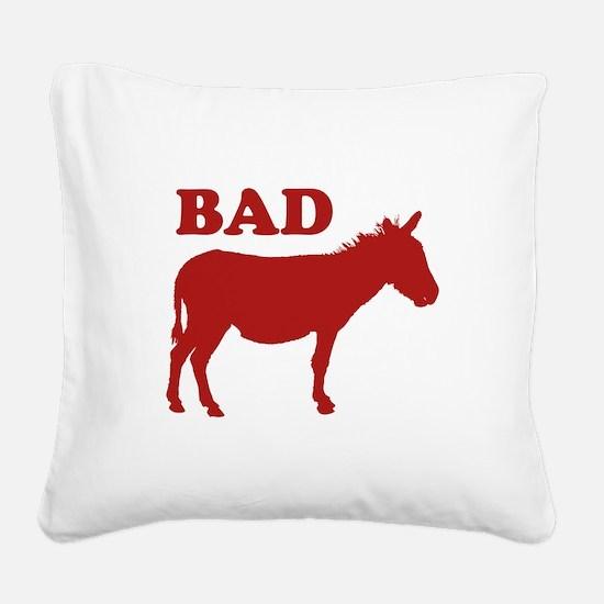 Badass Square Canvas Pillow