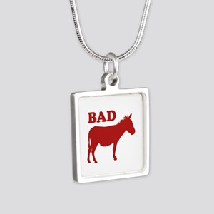 Badass Silver Square Necklace