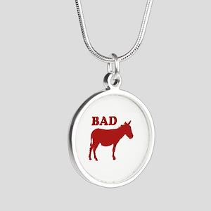 Badass Silver Round Necklace