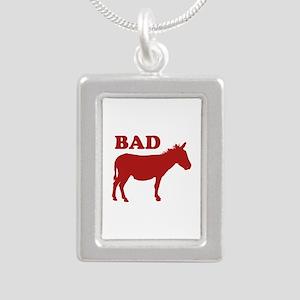 Badass Silver Portrait Necklace