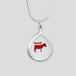 Badass Silver Teardrop Necklace